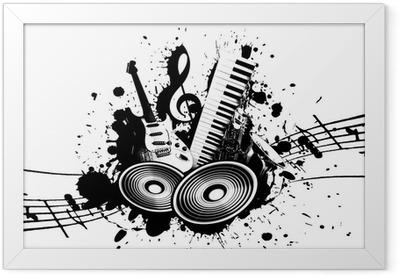Grunge Music Framed Poster