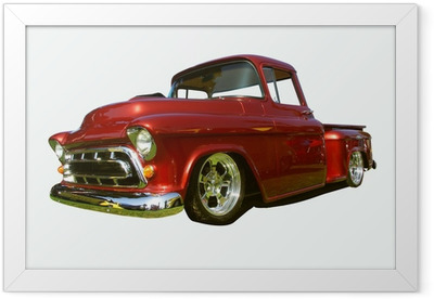 hot rod pick-up Framed Poster