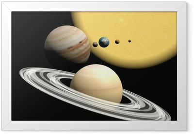 the solar system, abstact presentation. Framed Poster