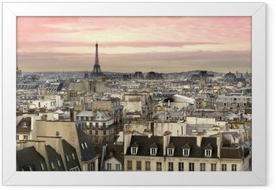 Paris Aussicht Eiffelturm Framed Poster