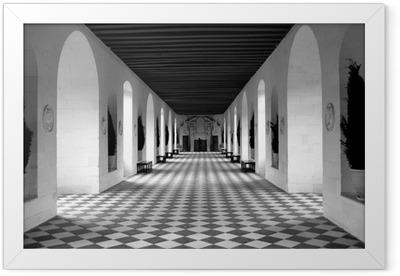 checkerboard floor Framed Poster