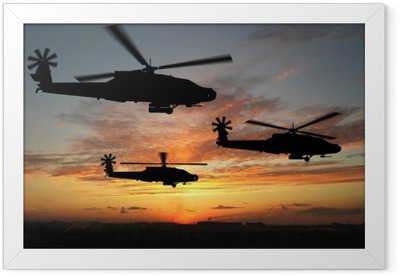 helicopters Framed Poster