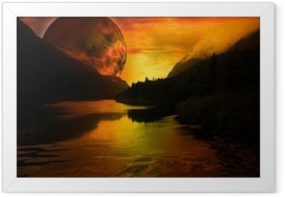 paysage fantastique Framed Poster
