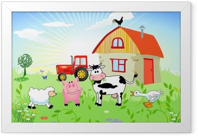 Bauernhof-Tiere Framed Poster
