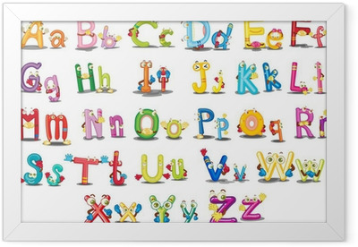 Alphabet characters Framed Poster