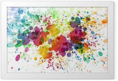 raster version of Abstract colorful splash background Framed Poster