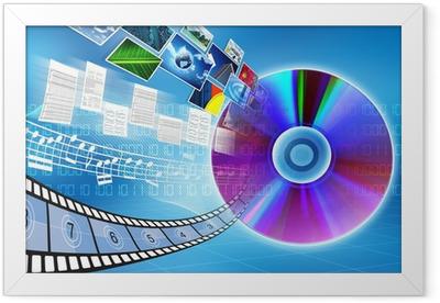 CD / DVD data storage Concept Framed Poster