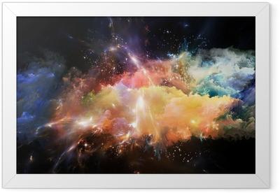 Emergence of Space Framed Poster