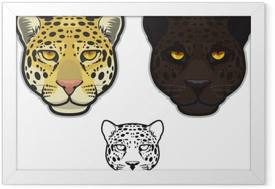 Jaguar or Leopard Face Framed Poster