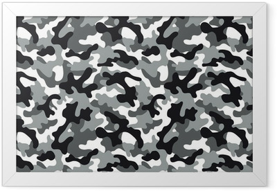 Camouflage seamless pattern Framed Poster
