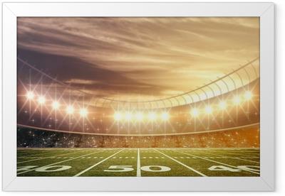 light of stadium Framed Poster