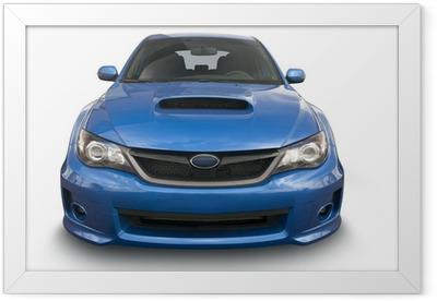 Blue Sports Car Framed Poster