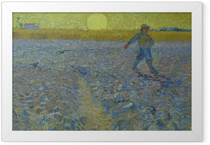 Vincent van Gogh - Sower at Sunset Framed Poster - Reproductions