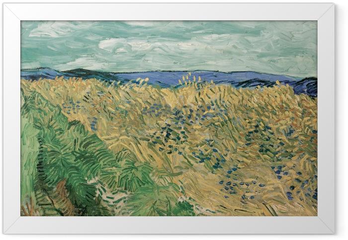 Plakat w ramie Vincent van Gogh - Pole zboża z chabrami - Reproductions