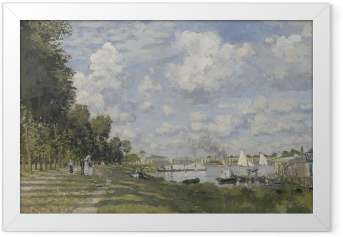 Gerahmtes Poster Claude Monet - Das Becken von Argenteuil - Reproduktion