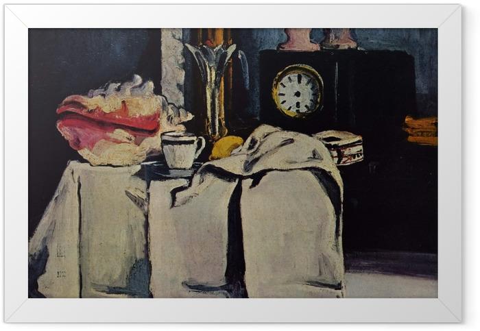 Gerahmtes Poster Paul Cézanne - Die schwarze Marmoruhr - Reproduktion