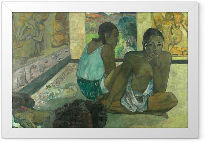 Gerahmtes Poster Paul Gauguin - Te rerioa (Der Traum) - Reproduktion