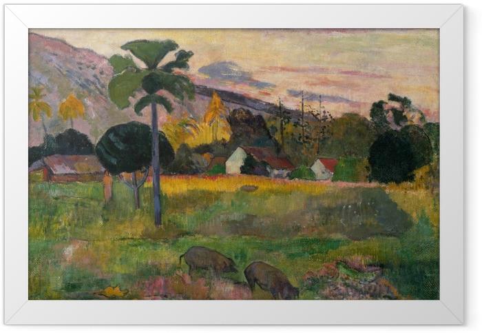 Poster en cadre Paul Gauguin - Haere mai (Viens ici) - Reproductions