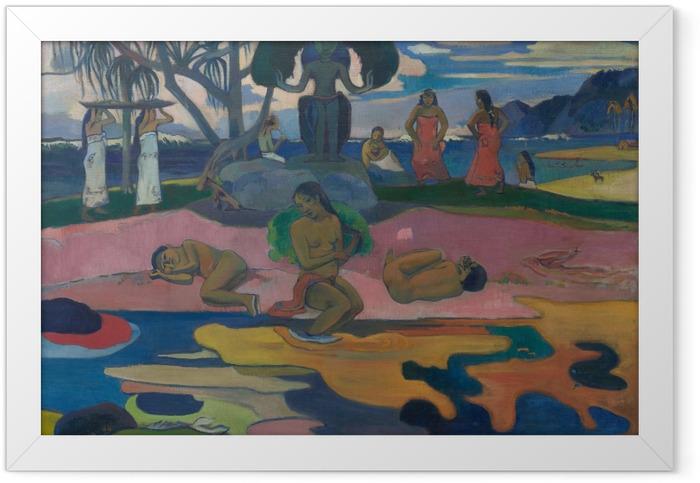 Poster en cadre Paul Gauguin - Mahana no atua (Le Jour de Dieu) - Reproductions