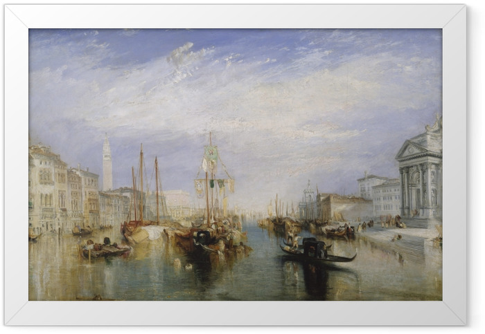 Plakat w ramie William Turner - Canal Grande - Reprodukcje