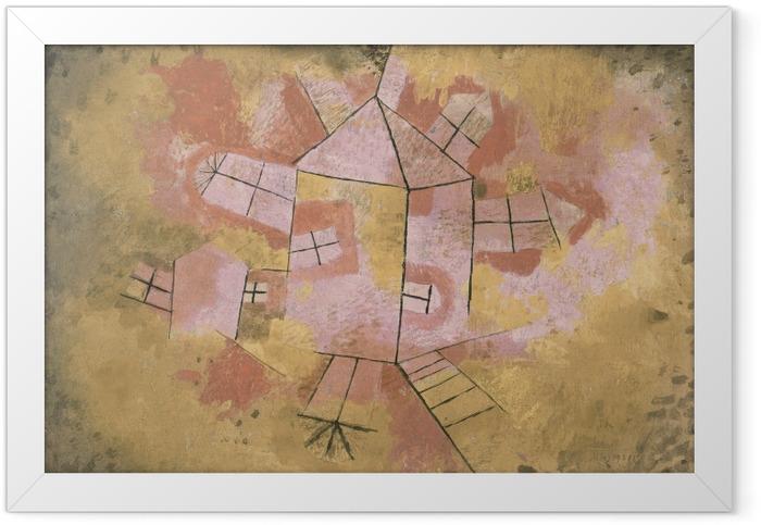Plakat w ramie Paul Klee - Obracający się dom - Reprodukcje