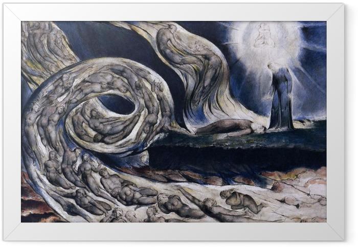 Poster en cadre William Blake - La Tourmente des amants - Reproductions