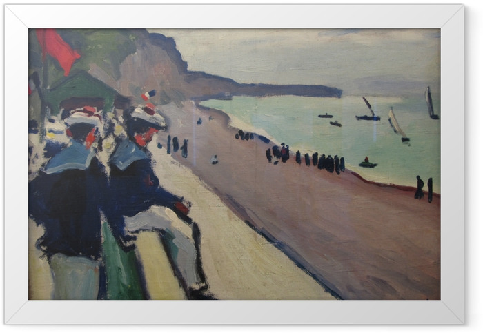 Gerahmtes Poster Albert Marquet - Der Strand von Fécamp - Reproductions