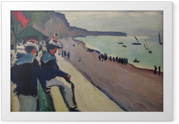 Poster en cadre Albert Marquet - La plage de Fécamp - Reproductions