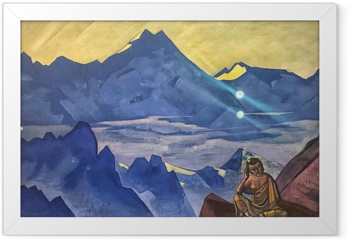 Gerahmtes Poster Nicholas Roerich - Buddha der Sieger - Nicholas Roerich