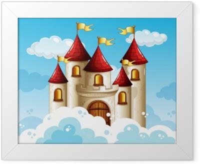 A Fairy Tale Castle on Sky Framed Poster