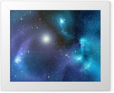 starry background of deep outer space Framed Poster