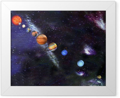 Parade of the planets Framed Poster