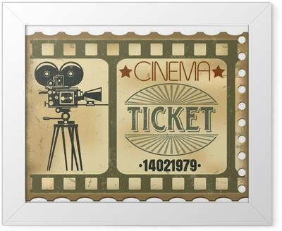 Ticket in cinema Framed Poster