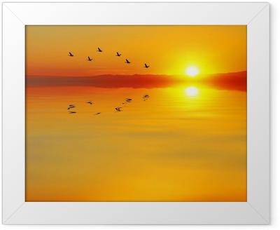 cruzando el mar Framed Poster