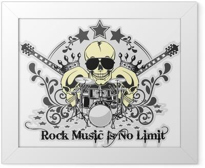 Rock n roll symbol 4 Framed Poster