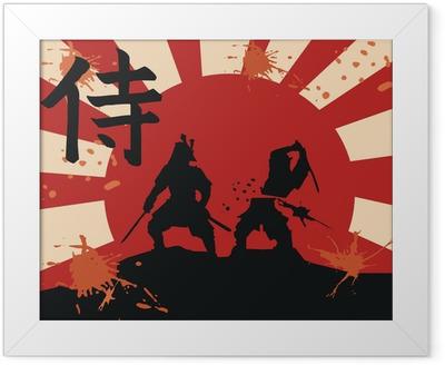 japan samurai Framed Poster