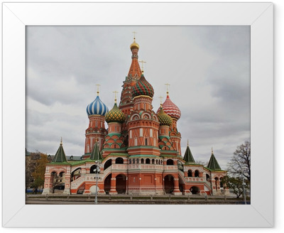 Saint Basil's Cathedral, Moscow, Russia. Framed Poster