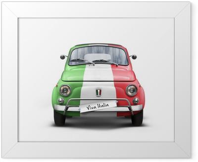 Voiture Italienne sur Fond Blanc Framed Poster