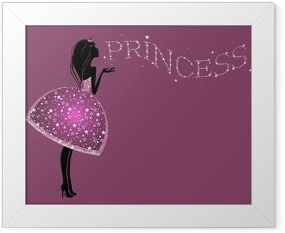 Красивая Принцесса в платье с блестками Framed Poster