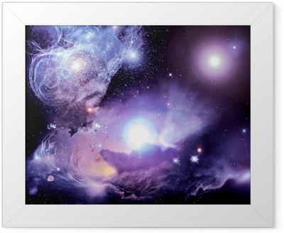 Fantasy Space Nebula Framed Poster