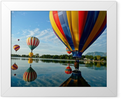 Hot Air Balloons Framed Poster