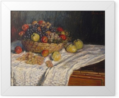 Claude Monet - Grapes and Apples Framed Poster