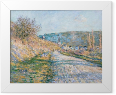 Claude Monet - The Road to Vetheuil Framed Poster