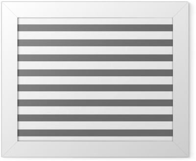 White and gray striped Framed Poster
