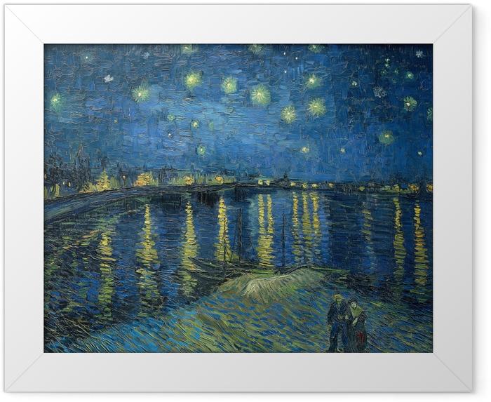 Plakat w ramie Vincent van Gogh - Gwiaździsta noc nad Rodanem - Reproductions