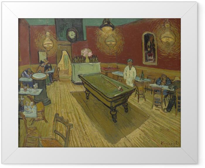 Plakat w ramie Vincent van Gogh - Nocna kawiarnia - Reproductions
