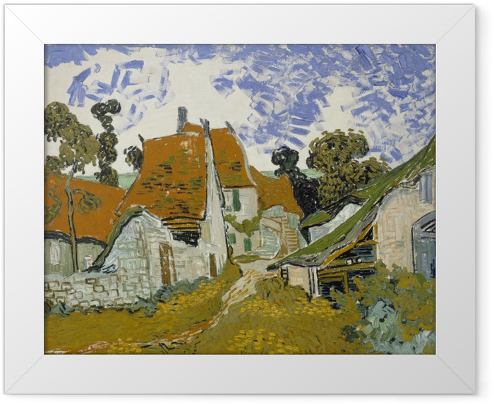 Vincent van Gogh - Village Street in Auvers Framed Poster - Reproductions