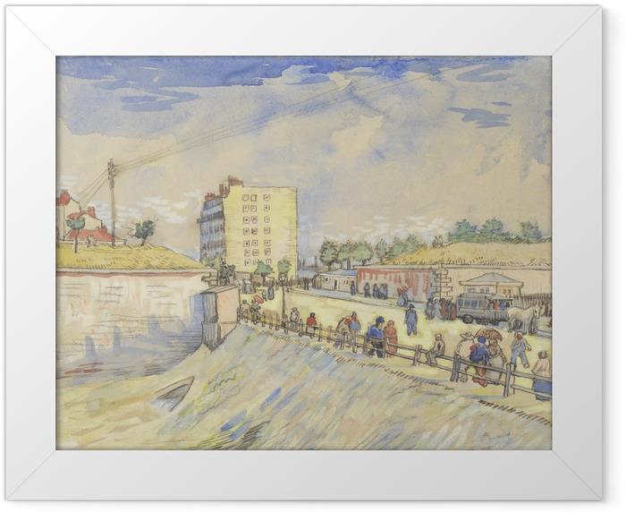 Poster en cadre Vincent van Gogh - Porte dans les Ramparts Paris - Reproductions