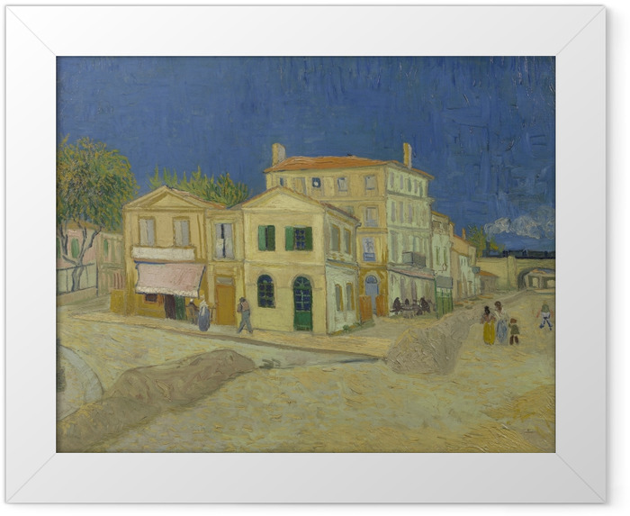 Gerahmtes Poster Vincent van Gogh - Das gelbe Haus - Reproductions