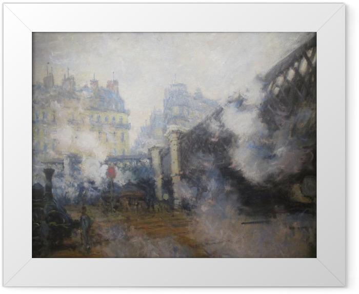 Plakat w ramie Claude Monet - Le Pont de l'Europe - Reprodukcje